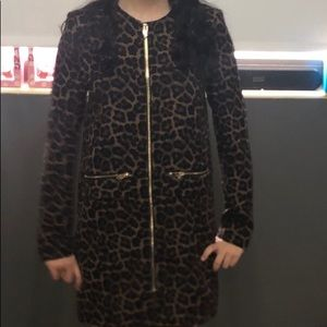 ✨3/$15 H&M leopard long jacket/ dress